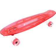 Скейтборд прозрачный PLAYSHION со светящимися колесами FS-LS002R (Красный), фото 1