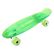 Скейтборд прозрачный PLAYSHION FS-PS002G (Зеленый), фото 1